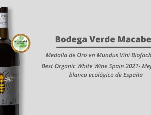 Bodega Verde Macabeo, elegido mejor vino blanco ecológico de España
